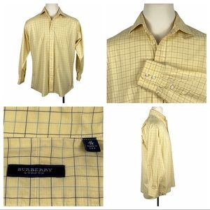 Authentic Burberry London Yellow & Blue Checked